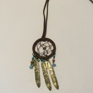 Vintage Native American Dream Catcher Necklace